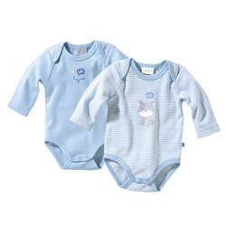 2er-Pack Bodys langarm von BORNINO BASICS