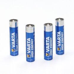 Alkaline-Batterien 1,5V Micro 4 Stück von VARTA