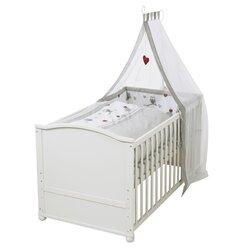 Babybett mit Ausstattung Adam & Eule 70x140 cm von ROBA